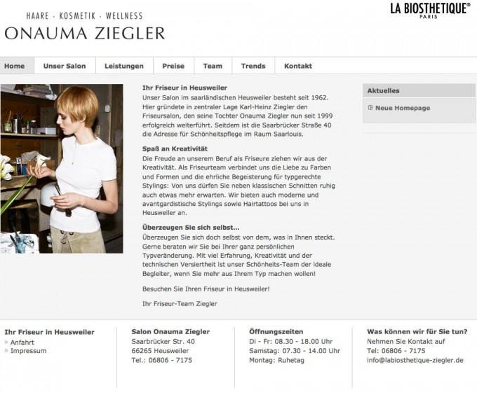 homepage friseur friseur heusweiler u2013 salon onauma ziegler u203a homepages u0026 online. Black Bedroom Furniture Sets. Home Design Ideas