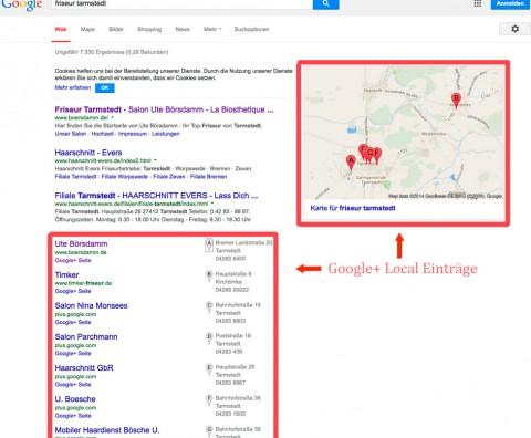 Homepage Online-Marketing Köln - Google+ Local