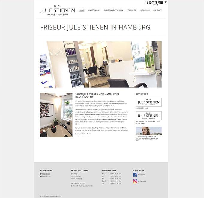 friseur hamburg jule stienen homepages online marketing k ln. Black Bedroom Furniture Sets. Home Design Ideas